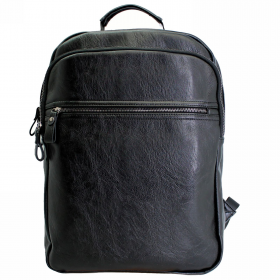PU Leather Laptop Backpack B9511-Blk 85729074cbd85